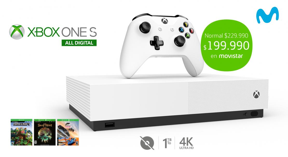Movistar Chile, primera telco del país en vender la consola Xbox One S All Digital