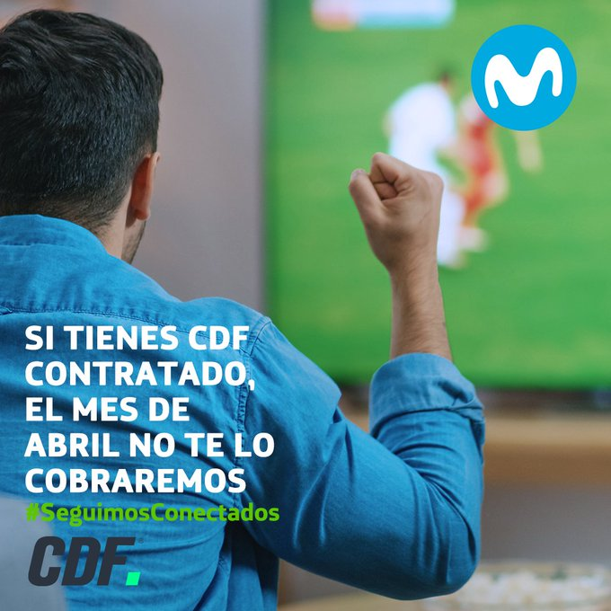 Movistar Chile no cobrará el mes de abril a sus clientes suscritos a CDF Premium o CDF HD