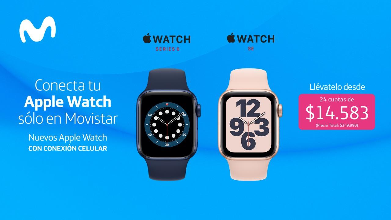 Movistar Chile anuncia los nuevos Apple Watch Series 6 (GPS + Cellular) y Apple Watch SE (GPS + Cellular), disponibles desde hoy